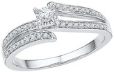 1/5 CT.T.W Round White Diamond Prong Set Promise Ring in 10K White Gold