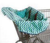 Pam Grace Creations Zigzag Elephant Grocery Cart Cover in Blue