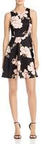 Aqua Floral High Neck Scuba Dress - 100% Exclusive