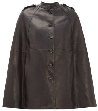 Nili Lotan Jentry Leather Cape - Womens - Black