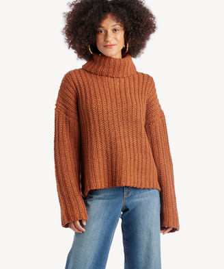 J.o.a. Women's Turtle Neck Sweater In Color: Spice Size XS From Sole Society