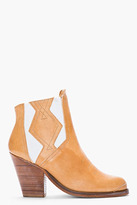 Surface to Air Tan Leather Cut-Out Serra Chelsea Cowboy Boots