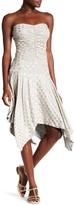 Sky Jessica Heart Print Handkerchief Hem Dress