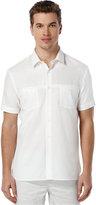 Perry Ellis Short-Sleeve Solid Dobby Shirt
