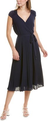 Maggy London Pleated Midi Dress