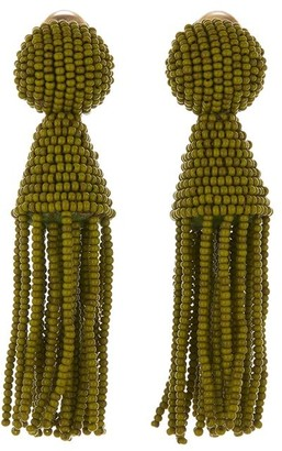 Oscar de la Renta Short Tassel Earrings