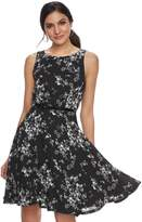 Elle Women's Floral Fit & Flare Dress
