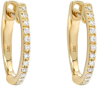 Zoe Lev Jewelry 14k Gold Diamond Huggie Earrings