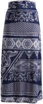 Glam Navy & White Tapestry Maxi Skirt - Plus