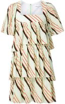Sonia Rykiel tiered pleat mini dress