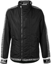 Dolce & Gabbana word trim jacket - men - Leather/Nylon/Polyester - 50
