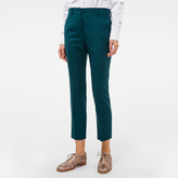 Paul Smith A Suit To Travel In - Women's Slim-Fit Dark Green Wool-Twill Trousers