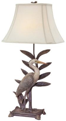 Studio 21 Seahaven Heron Table Lamp, Antique Bronze