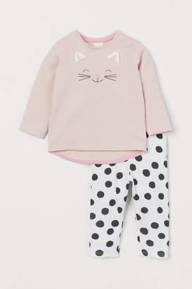 H&M Top and Leggings - Pink