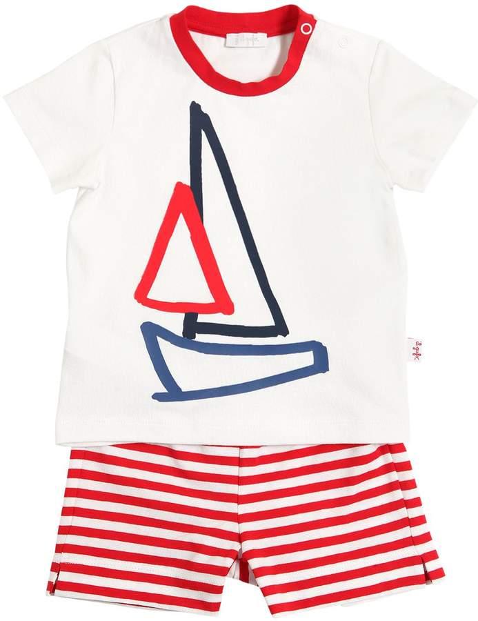 Il Gufo Sailboat Cotton Jersey T-Shirt & Shorts