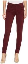 Hudson Nico Mid-Rise Super Skinny in Rich Garnet Women's Jeans