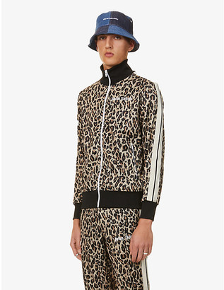 Palm Angels Leopard-print jersey jacket