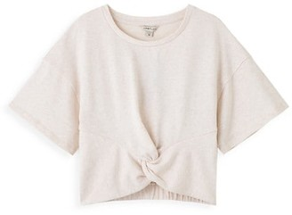 Habitual Girl's Twist-Front French Terry T-Shirt