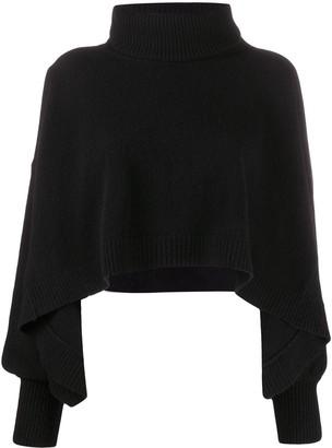 FEDERICA TOSI Draped Sleeve Wool Jumper