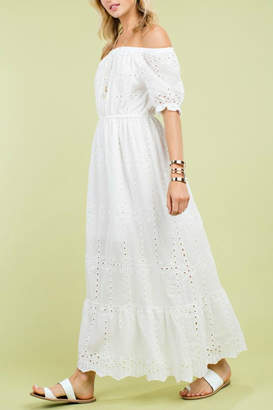 Pretty Little Things Eyelet Maxi Dress