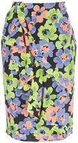 floral ruffle trim skirt