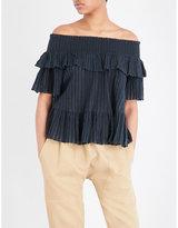 Ulla Johnson Kasia off-the-shoulder cotton-gauze blouse