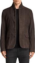 AllSaints Shorley Suede Blazer, Charcoal/Grey