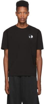 McQ Black Dropped Shoulder T-Shirt
