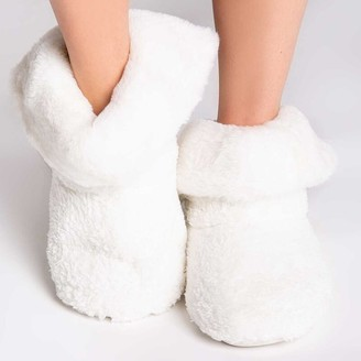 PJ Salvage PLUSH BOOTIE - IVORY, SMALL