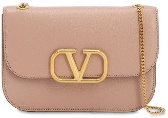 Valentino Vlock Small Leather Shoulder Bag