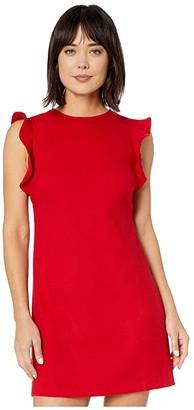 Vineyard Vines Flutter Sleeve Shift Dress (Red Velvet) Women's Dress