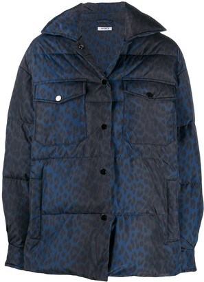 P.A.R.O.S.H. Long-Sleeved Leopard Print Puffer Jacket