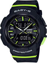 G-Shock Women's Analog-Digital Baby-g Black & Lime Green Resin Strap Watch 43mm