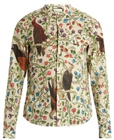 Gucci Birds-print single-cuff cotton shirt