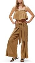 Free People Women's Tropic Babe Crop Top & High Waist Pants Set