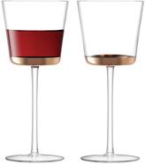 LSA International Edge Red Wine Glass 325ml Set of 2 - Rose Gold