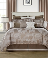 Waterford Trousseau Mocha Reversible King Comforter Set