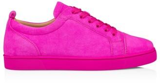Christian Louboutin Louis Junior Suede Low-Top Sneakers