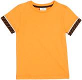 Fendi Boy's Short-Sleeve T-Shirt w/ Logo Taping, Size 4-6