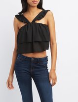 Charlotte Russe Layered Ruffle Crop Top