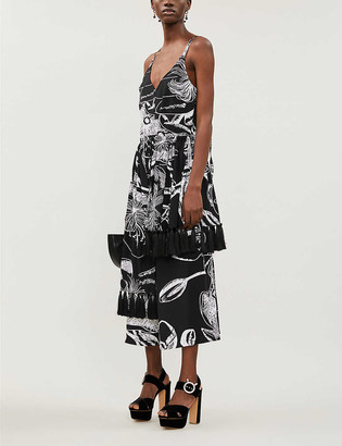 Stine Goya Basil graphic-pattern stretch-jersey midi dress