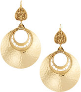 Jose & Maria Barrera Hammered Disc Hoop Drop Earrings