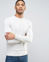 New Look Crew Neck Sweater In Oatmeal