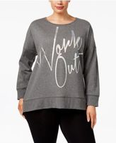 Material Girl Active Plus Size Work Out Sweatshirt, Only at Macy's