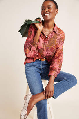 Anthropologie Halie Dolman-Sleeved Buttondown