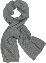 Armani Jeans Cable Knit Wool Blend Long Scarf