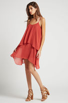 BCBGeneration Flowy Ruffled Chiffon Slip Dress - Tandori Spice