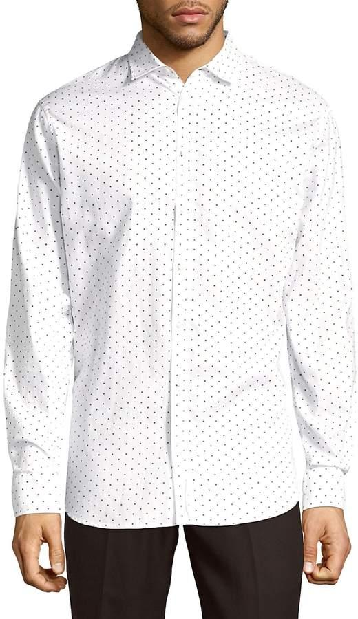 DSQUARED2 Men's Mini Diamond Cotton Button-Down Shirt