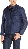 Andrew Marc Men's Orchard Quilted Moto Jacket with Removable Sherpa Lining