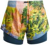 adidas by Stella McCartney Run nature-print performance shorts